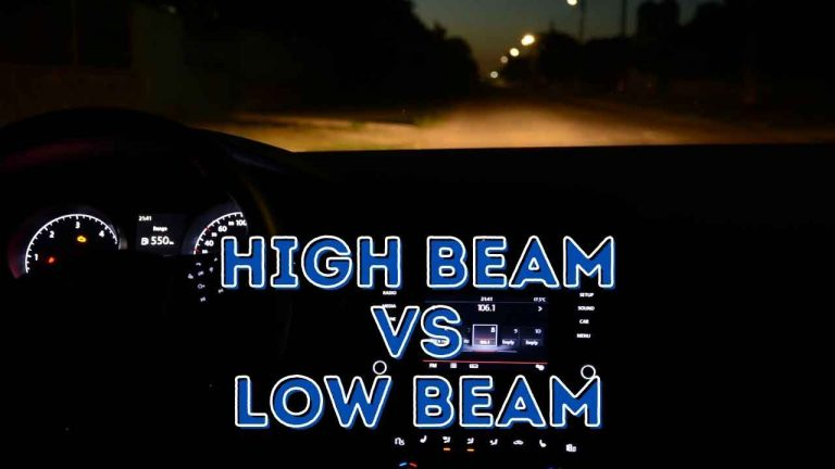 high beam vs low beam headlights