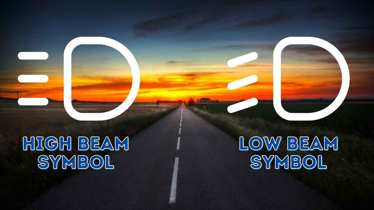 low beam vs high beam symbol